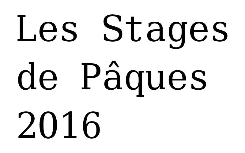 Les Stages de Pâques